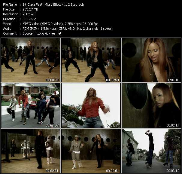 Ciara Videos Download Feat Missy Elliott Music Video 1 2 Step
