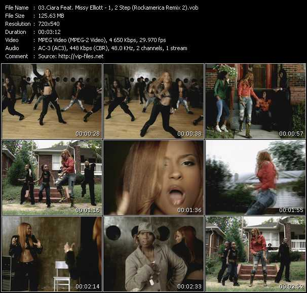 Ciara Videos Download Feat Missy Elliott Music Video 1 2 Step Rockamerica Remix