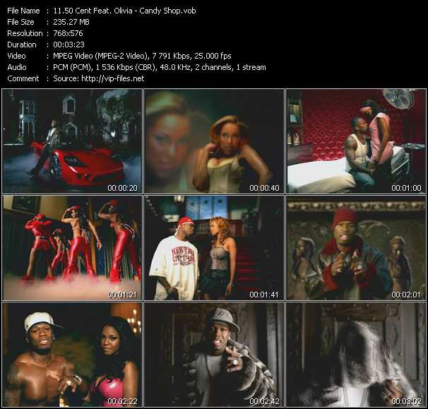 50 cent feat olivia candy shop download hq music video vob of.
