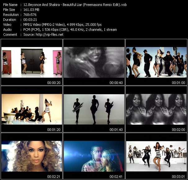 Beyonce/shakira beautiful liar (behind the scenes) youtube.