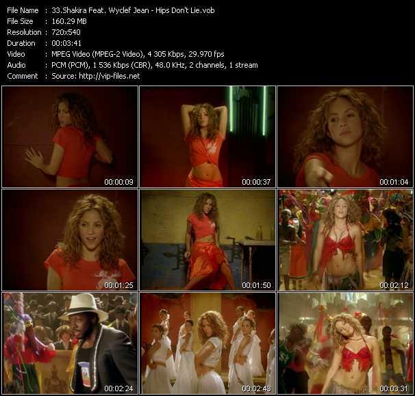 Shakira Videos. Download Shakira Feat. Wyclef Jean Music Video Hips Don't  Lie
