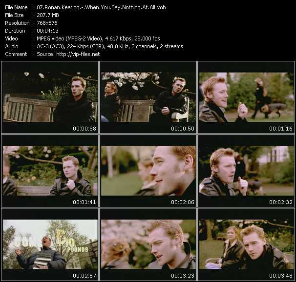 Ronan Keating Videos Download Ronan Keating Music Video When You Say Nothing At All