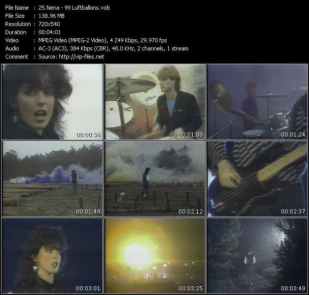 Nena Videos Download Music Video 99 Luftballons
