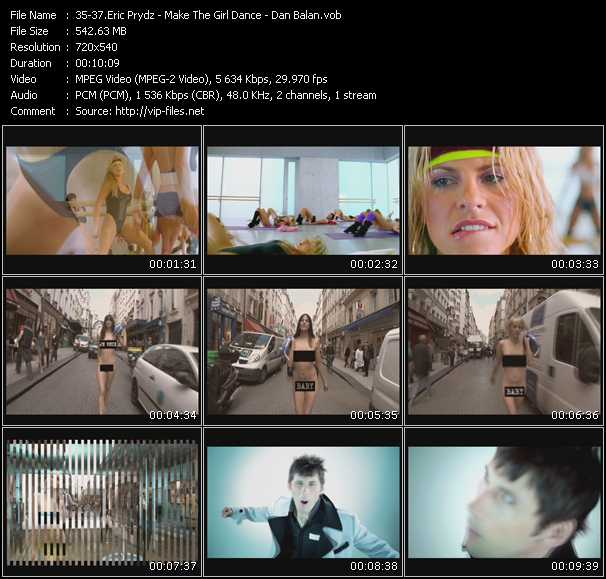 Make The Girl Dance Videos Download Eric Prydz Make The Girl Dance Dan Balan Music Video Call On Me Baby Baby Baby Extended Edit Chica Bomb