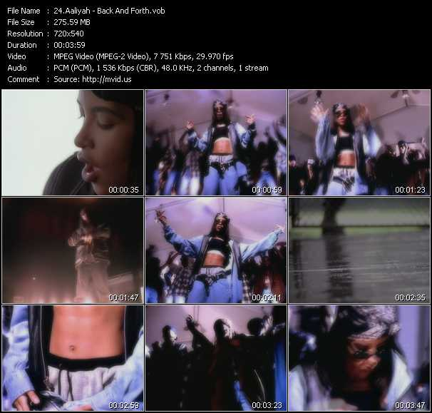 Aaliyah Videos. Download Aaliyah Music Video Back And Forth