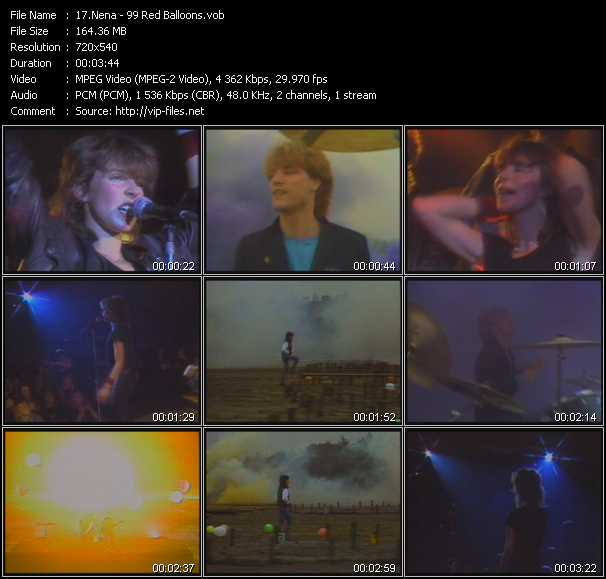 Nena Videos Download Music Video 99 Red Balloons